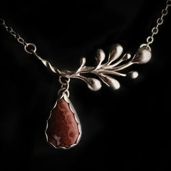 """Arbor"" Crazy Lace Agate and Sterling Silver Necklace"
