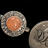 """Cyriac"" Sunstone and Sterling Silver Ring"