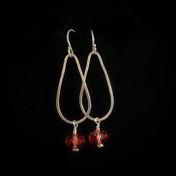 Handmade Swarovski and Sterling Silver Earrings