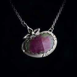 Gem - Ruby in Zoisite & Sterling Silver Necklace