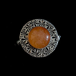 Cyriac - Sunstone and Sterling Silver Ring