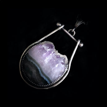 Peck - Amethyst & Sterling Silver Necklace