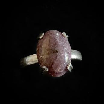 Betty - Handmade Charoite Sterling Silver RIng