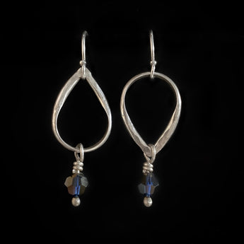 Handmade Swarovski Crystal & Sterling Silver Earrings