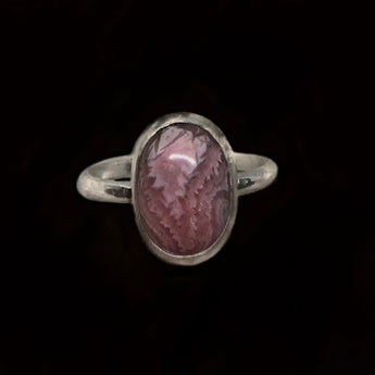 Heather - Rhodochrosite and Sterling Silver Ring
