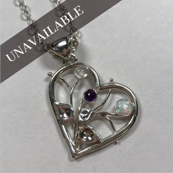 Custom Birthstone & Sterling Silver Necklace