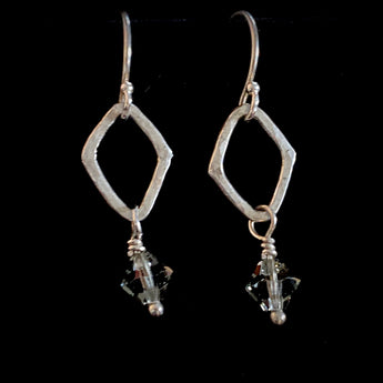 Handmade Swarovski & Sterling Silver Earrings