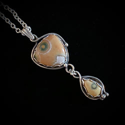 Ripples - Ocean Jasper and Sterling Silver Necklace