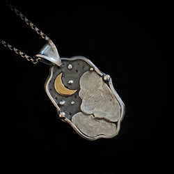 Lunar - Sterling Silver Moonscape Necklace