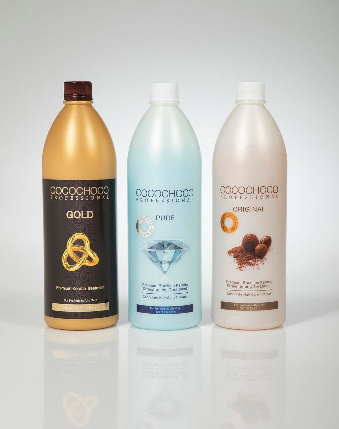 COCOCHOCO PROFESSIONAL ORIGINAL, GOLD & PURE 1000ml x 3