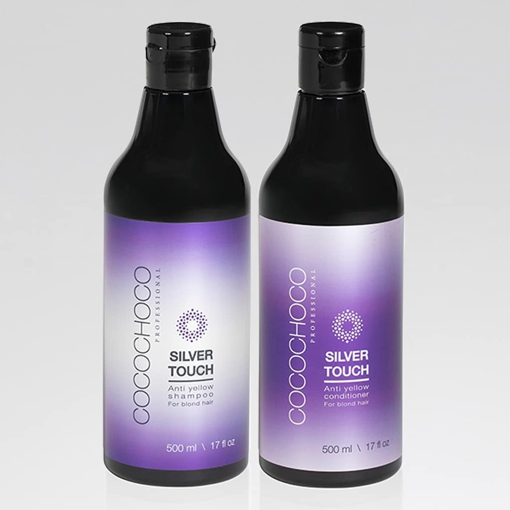 COCOCHOCO PROFESSIONAL SILVER TOUCH ANTI YELLOW SHAMPOO & CONDITIONER SET 500ml