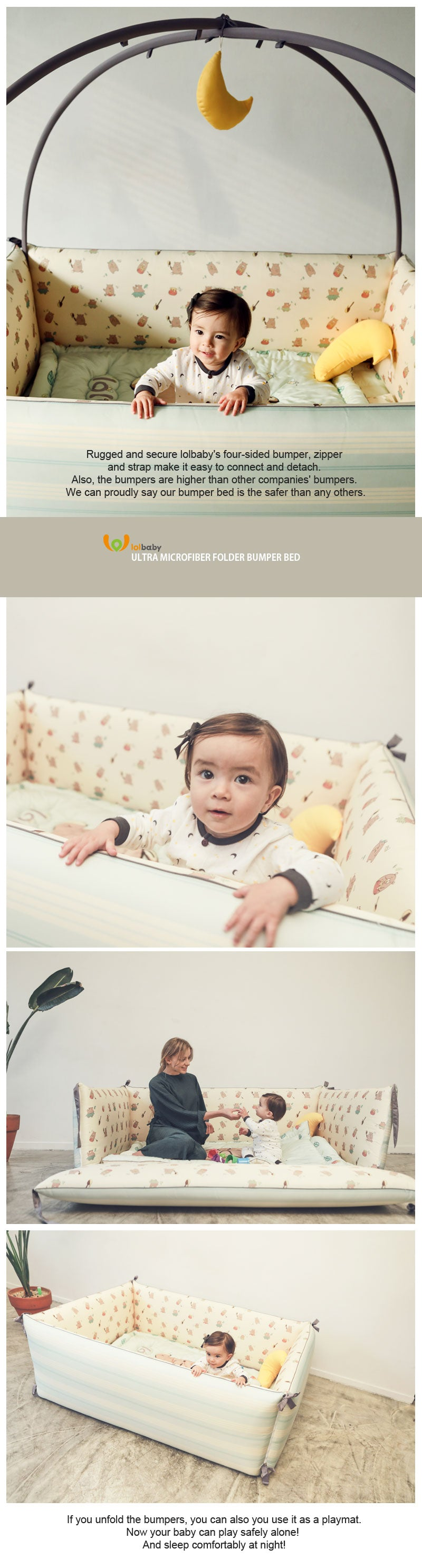 Award Winning LOLBaby Convertible Bumper Bed