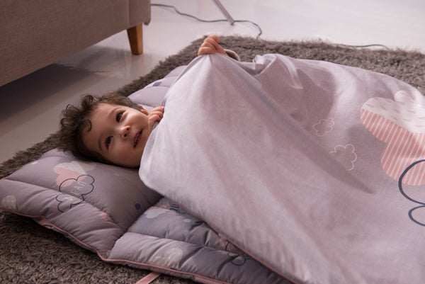 Portable Microfiber Nap Bedding Set - Dreamy Cloud