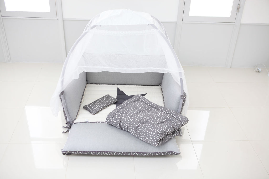 100% Premium Cotton Bumper Bed - Star