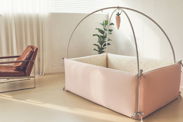 100% Premium Cotton Bumper Bed - Elephant Pink