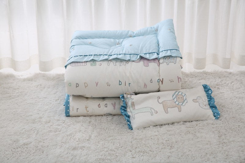 Bedding Set - 100% Premium Cotton Bedding Set - Maman Blue
