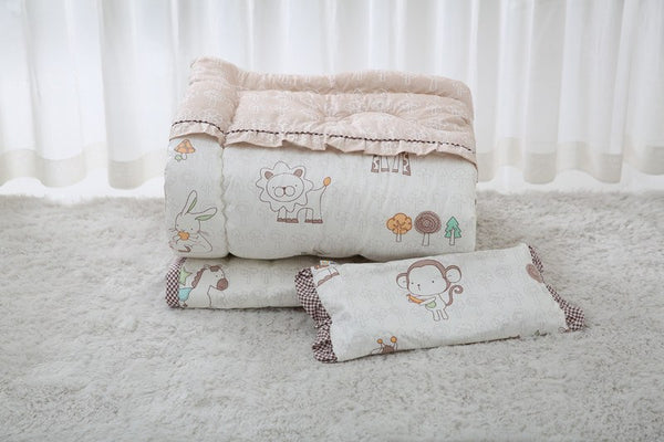 LOLBaby Bedding Set - 100% Premium Cotton Bedding Set - Zoo