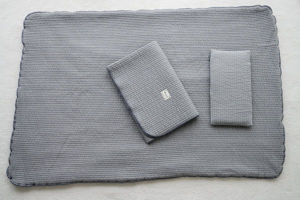 100% Premium Cotton Bedding Set - Pigment Line Plain Grey