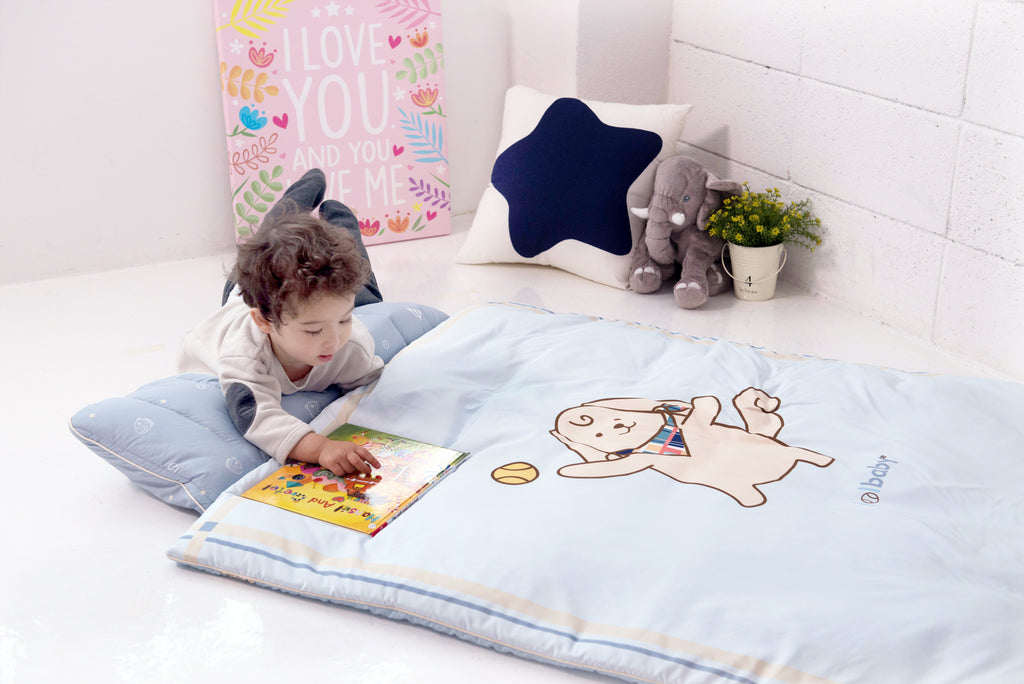 Portable Microfiber Nap Bedding Set - Golden Puppy