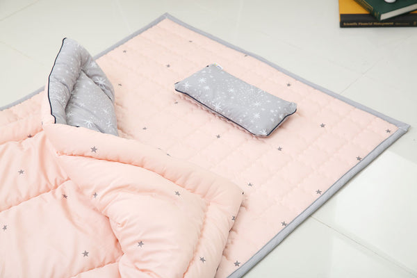 100% Premium Cotton Bedding Set - Simple Star Pink