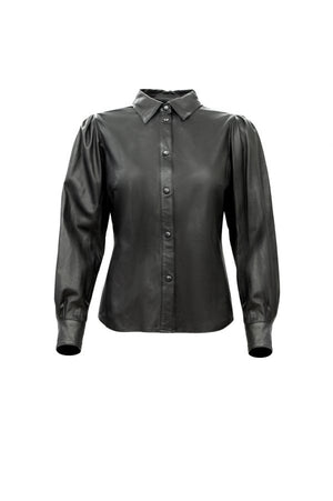 Dahila leather shirt