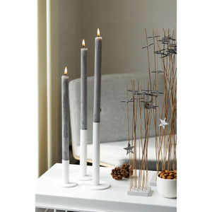 Taper candle holder, white, large