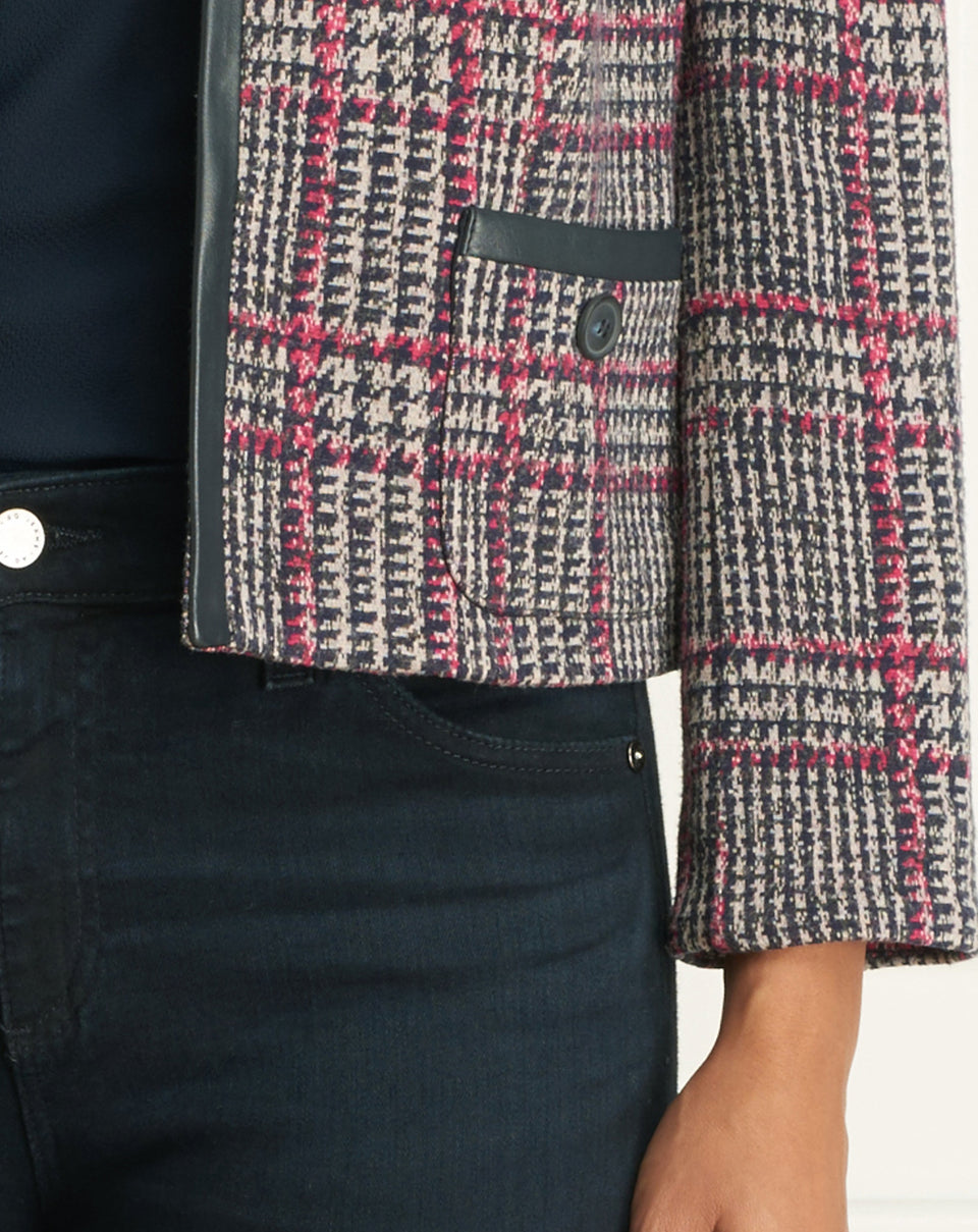 Plaid  Short Jacket