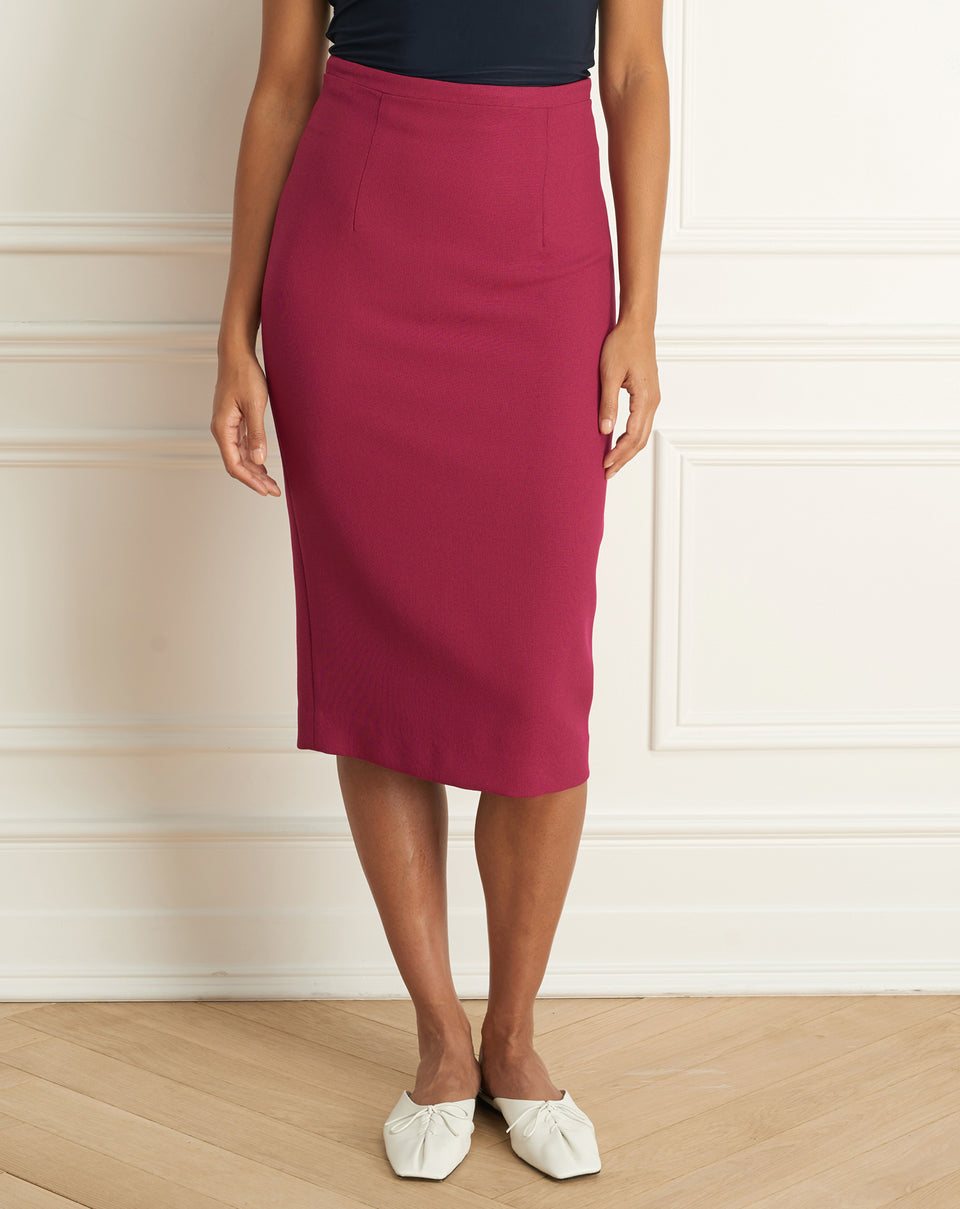 Basket Weave Pencil Skirt