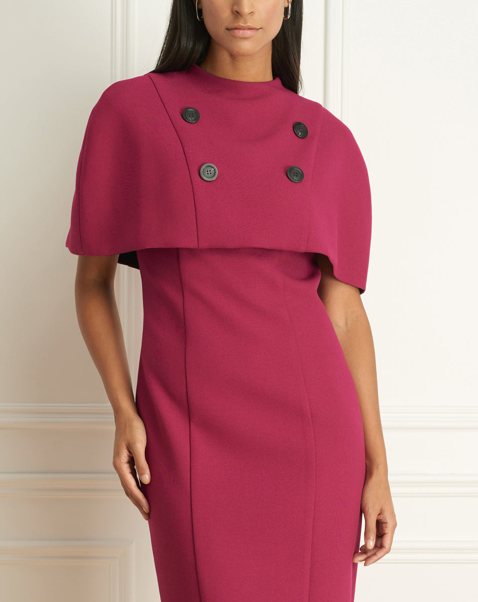 Basket Weave Cape Dress