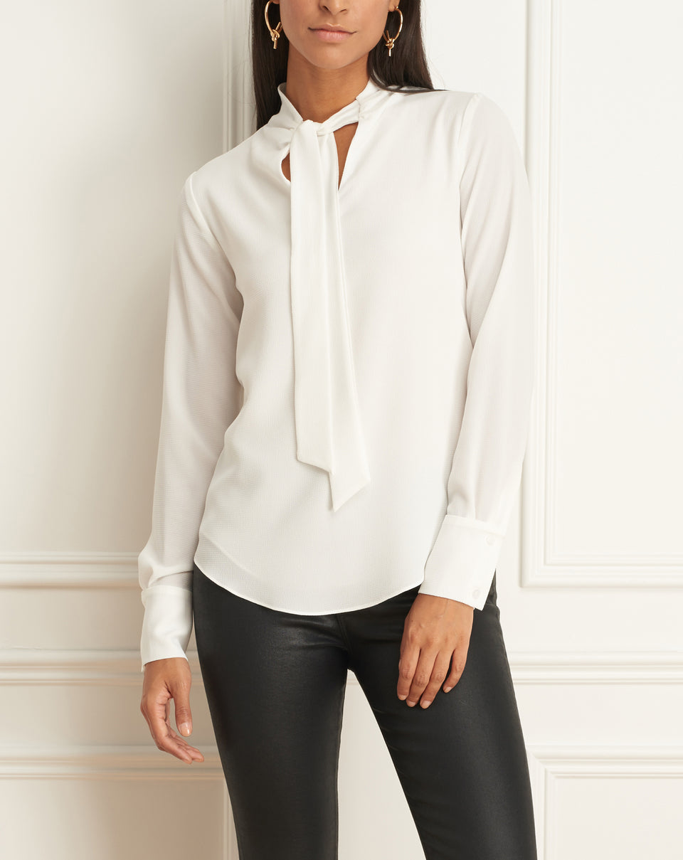 Long Sleeves Blouse With Tie