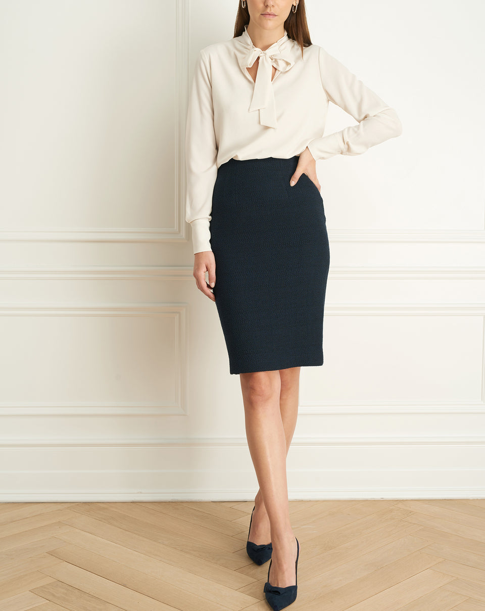 Chanel Tweed Pencil Skirt (F20CH3269)