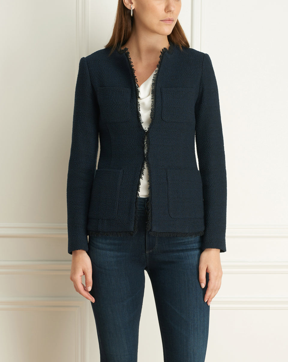 Chanel Tweed Jacket With Pockets
