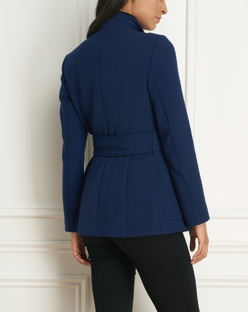 Belted Jacket With Pockets