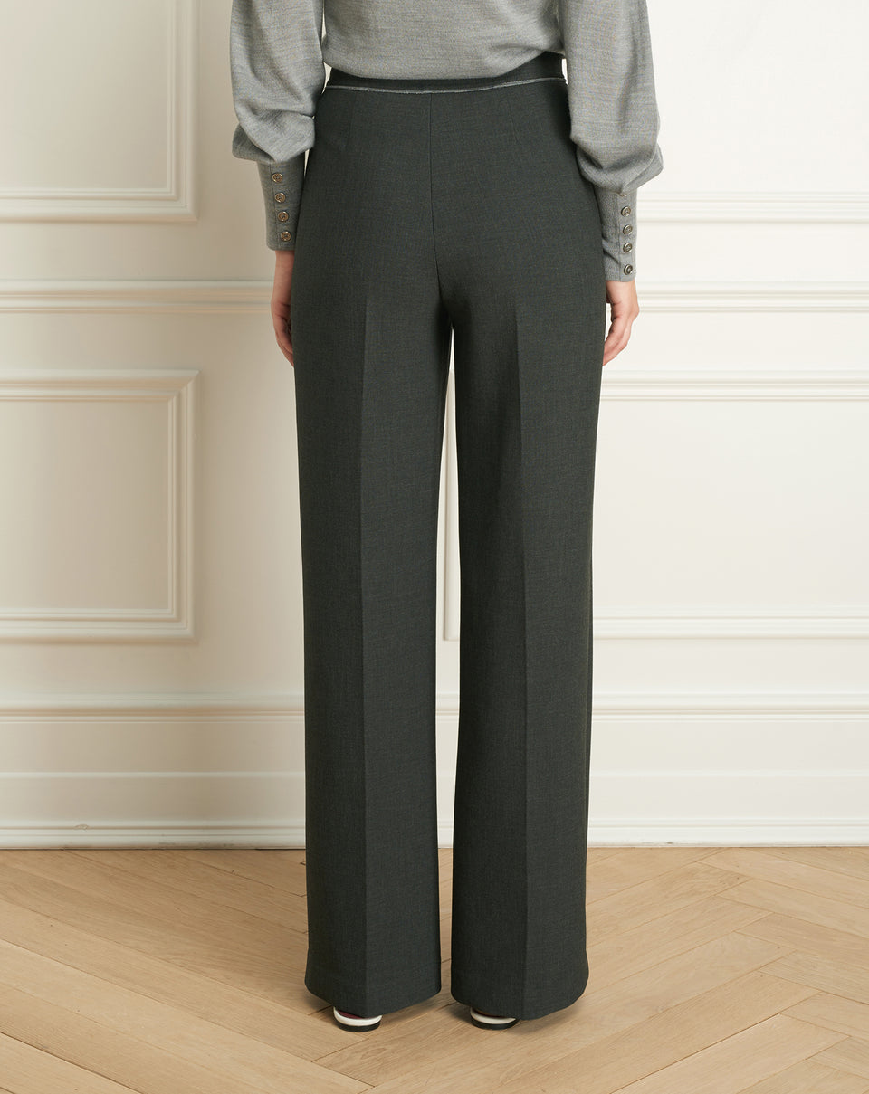 Double Face Wide Leg Pant