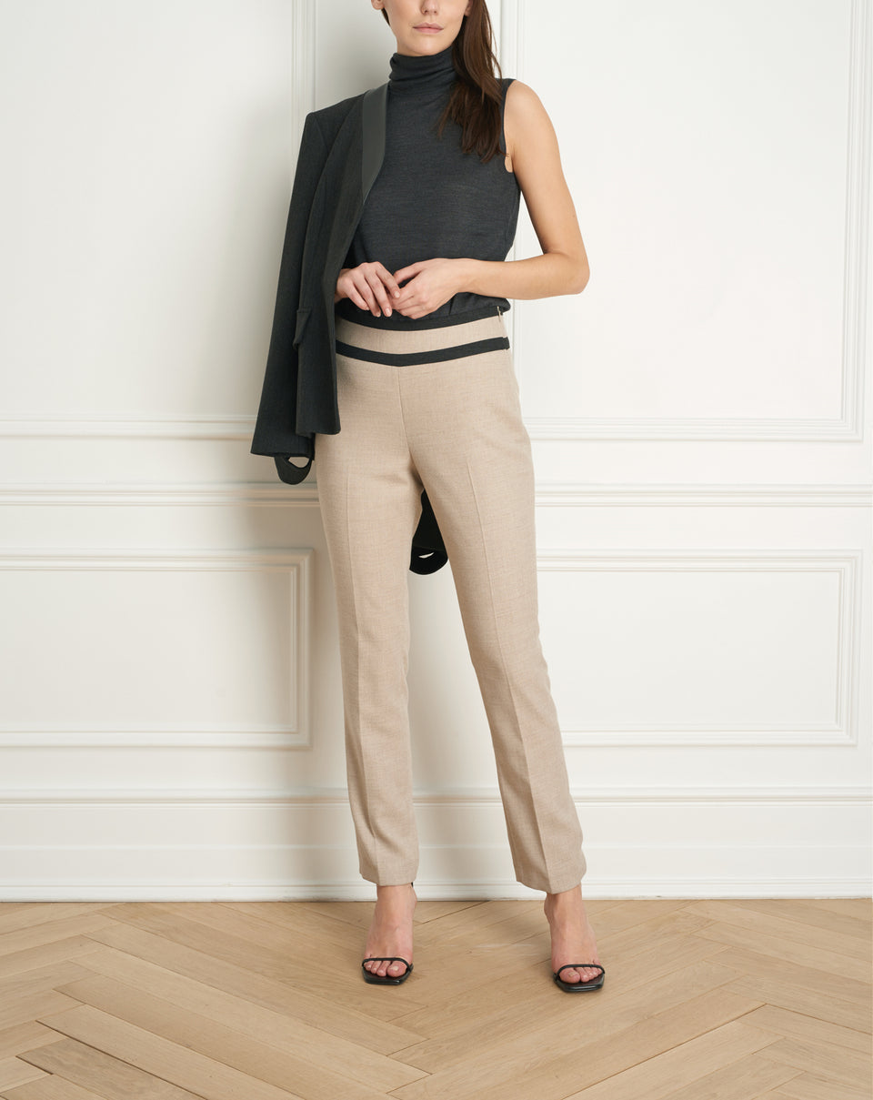Cigarette Pant with Contrasting Details