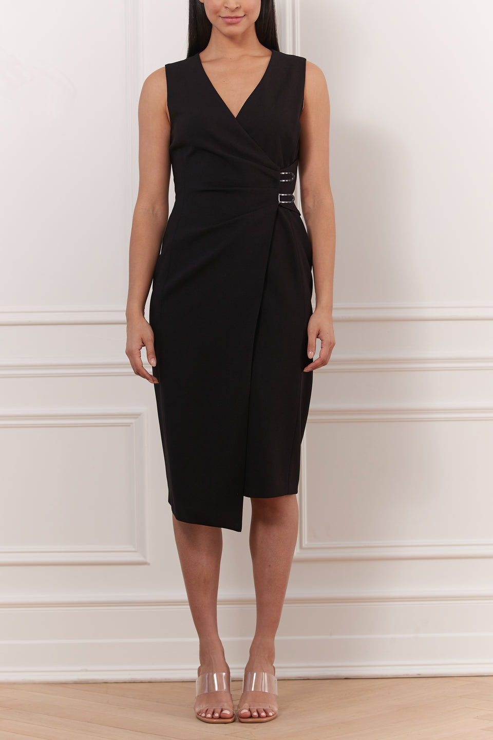 Robe Crepe extensible Cache-Coeur
