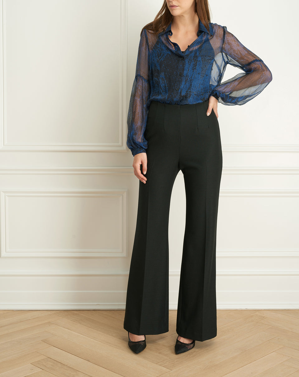 2 Tone Stretch Wide Leg Pant