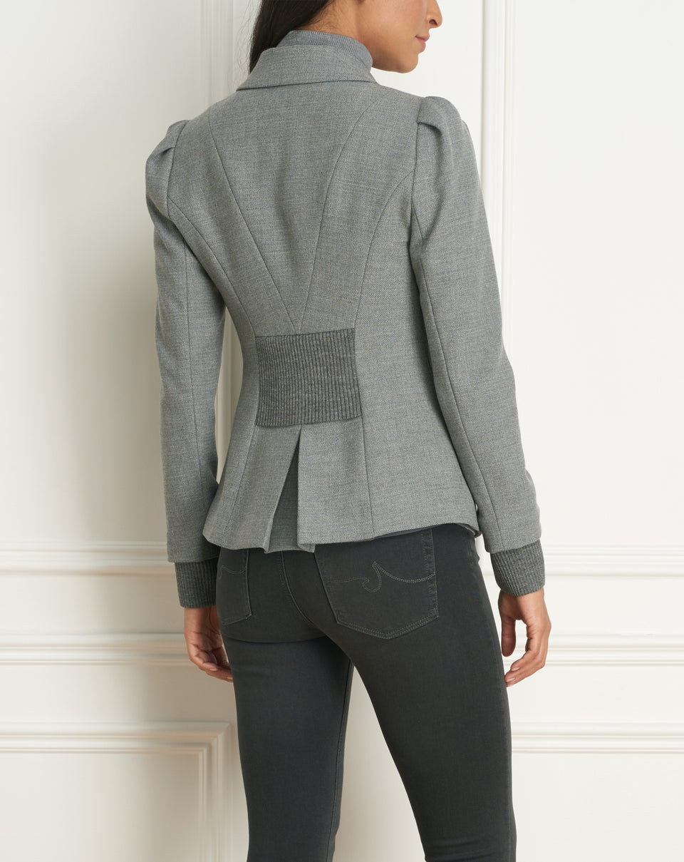 Single Button Jacket With Shoulder Detail