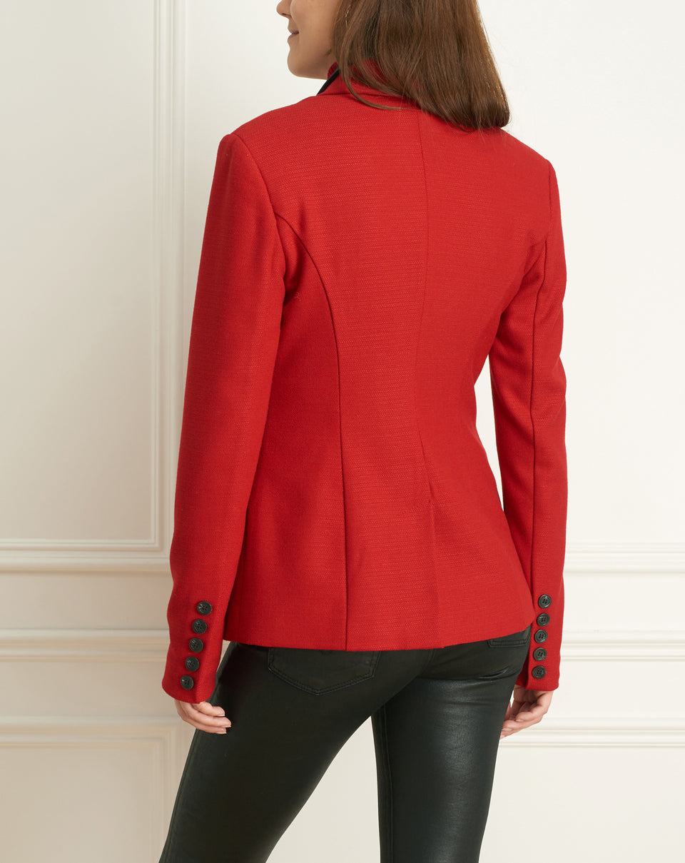 2 Tone Stretch Jacket Wth Leather Collar