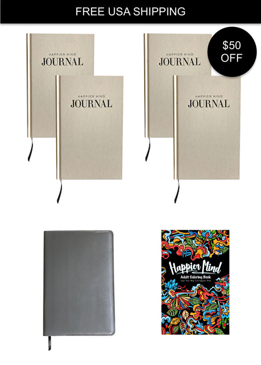 happier mind journal commitment bundle