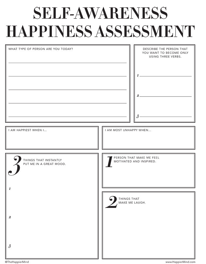 Free Printable Personal Growth Worksheets | Happier Mind Journal