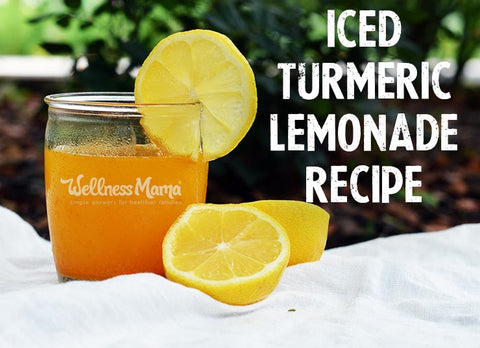 Turmeric is everything in the wellness world today! Here's an Iced Turmeric Lemonade Recipe