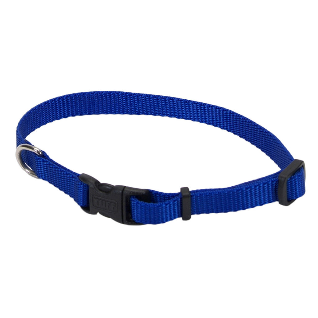 Coastal Blue Adjustable Nylon Dog Collar with Tuff Buckle