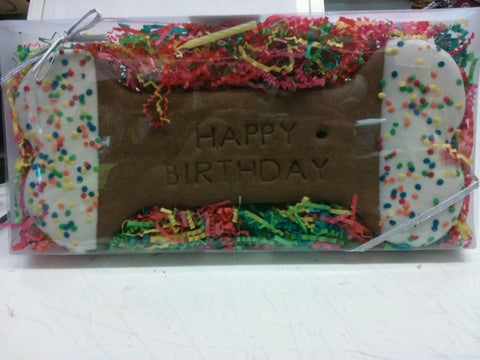 All Natural Happy Birthday Cookie Cake