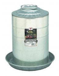 3 Gallon Double Wall Metal Poultry Fount