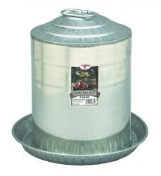 5 Gallon Double Wall Metal Poultry Fountain