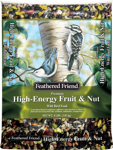 Feathered Friend High-Energy Fruit & Nut Wild Bird Food 4 Lb.
