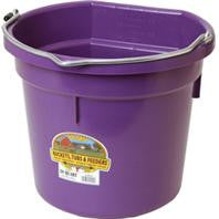 Little Giant Plastic Flat Back Bucket, 20 Qt.