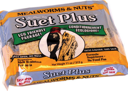 Suet Plus Mealworms & Nuts Blend