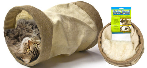 Burlap Tunnel With Crinkle Sound
